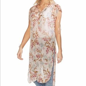 Vince Camuto Wildflower Shirttail Tunic NWT